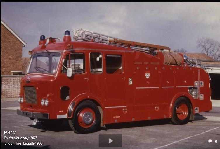 F106 Batch 4 AEC Diesel Merryweather 45ft. WRL, PL & P LFB 1966