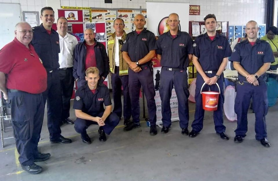 Volunteers at Chelsea Fire Station Open Day 2019